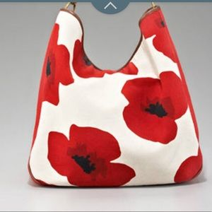 YSL poppy print roady Hobo Handbag